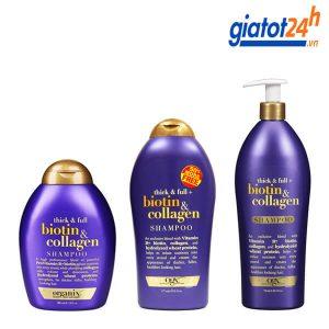 dầu gội ogx thick & full biotin & collagen shampoo có tốt không