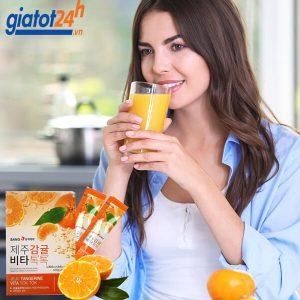 nước ép quýt sanga jeju tangerine vita tok tok có tốt không