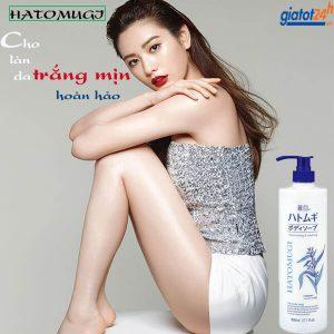 sữa tắm dưỡng ẩm hatomugi moisturizing & washing có tốt không