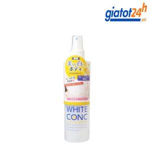 lotion xịt dưỡng trắng da white conc có tốt không