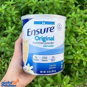sữa bột ensure original nutrition powder có tốt không