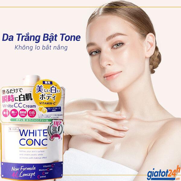 sữa dưỡng white conc cc cream vitamin c có tốt không