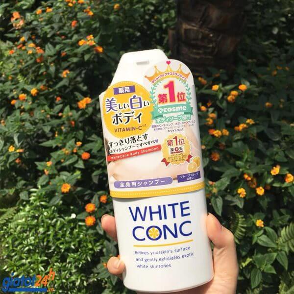 sữa tắm trắng white conc có tốt không