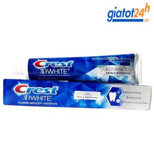kem đánh răng crest 3d white advanced triple whitening có tốt không