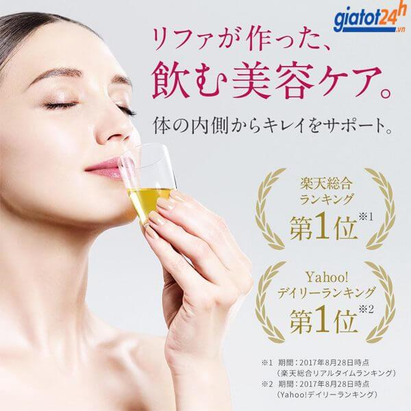 nước uống đẹp da refa 16 collagen enrich có tốt không