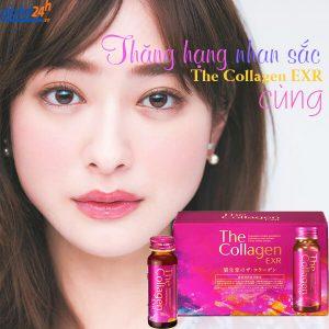 nước uống đẹp da the collagen shiseido exr có tốt không