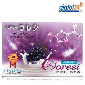 nước uống trắng da collagen silk coresi có tốt không
