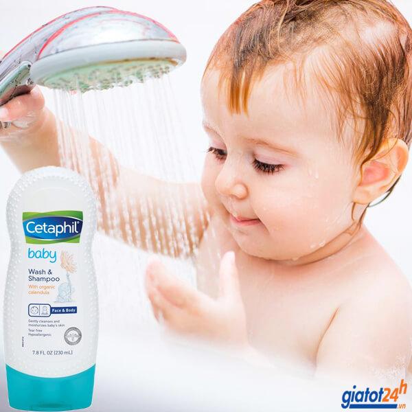 sữa tắm gội toàn thân cho bé cetaphil có tốt không