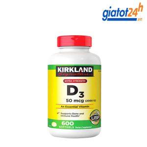 viên uống vitamin d3 kirkland extra strength có tốt không