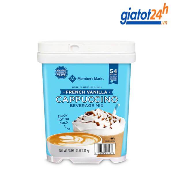 cà phê sữa hòa tan cappuccino member's mark có tốt không