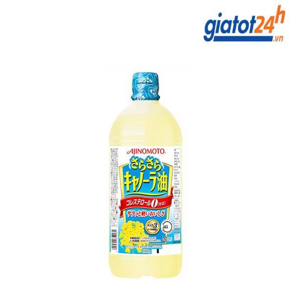 dầu ăn hoa cải ajinomoto 1l có tốt không