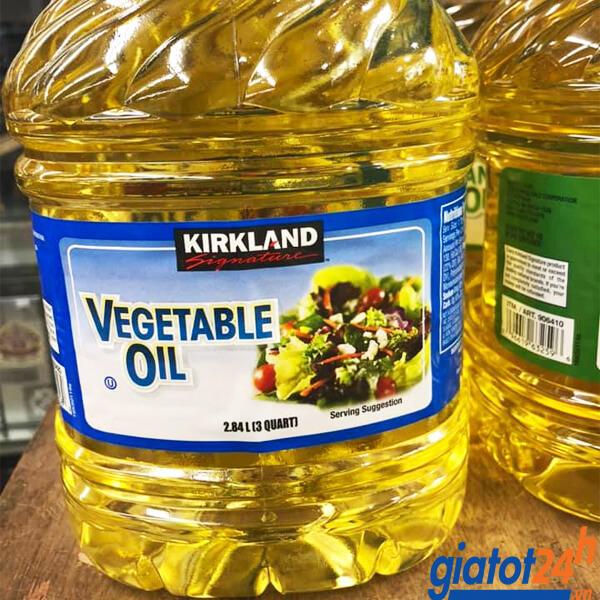 dầu ăn kirkland signature vegetable oil 2.84l có tốt không