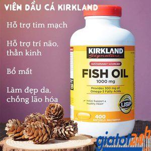 dầu cá kirkland signature fish oil 1000mg có tốt không