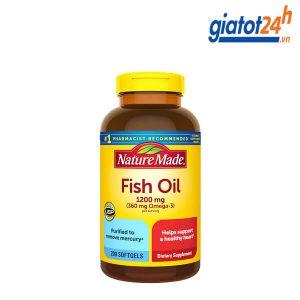 dầu cá omega 3 nature made fish oil 1200mg có tốt không