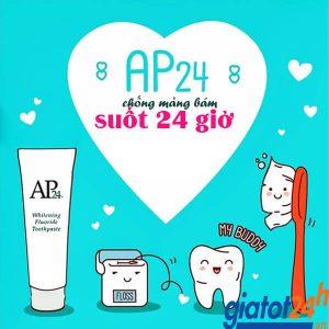 kem đánh răng nu skin ap24 whitening fluoride toothpaste có tốt không