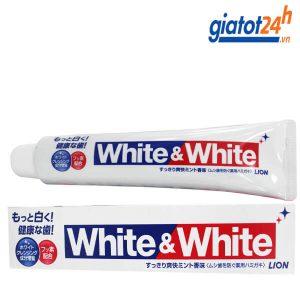 kem đánh răng white & white lion có tốt không
