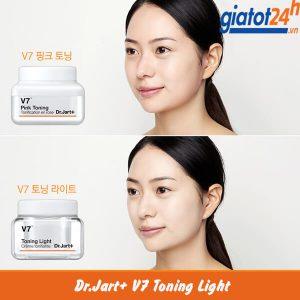 kem dưỡng trắng tái tạo da dr.jart+ v7 toning light có tốt không