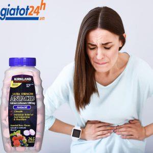 kẹo giảm đau dạ dày kirkland ultra strength antacid có tốt không