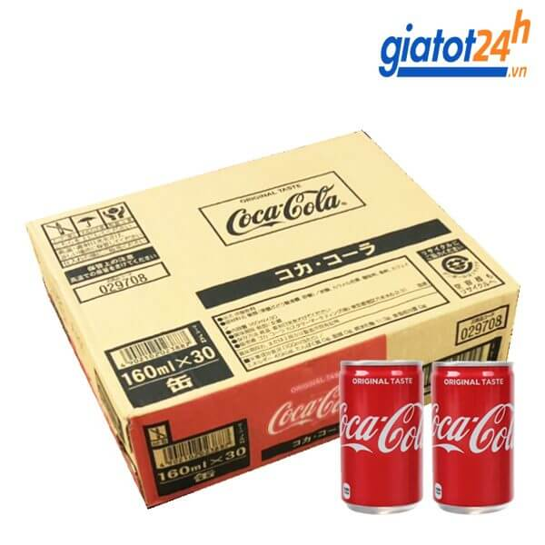 nước ngọt có gas coca cola lon nắp bật 160ml mua ở đâu