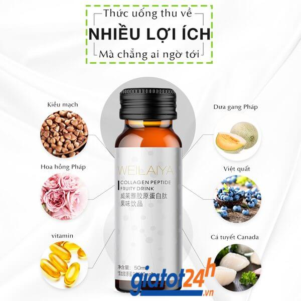 nước uống weilaiya collagen peptide fruity drink có tốt không