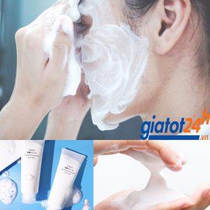 sữa rửa mặt tạo bọt muji face soap có tốt không
