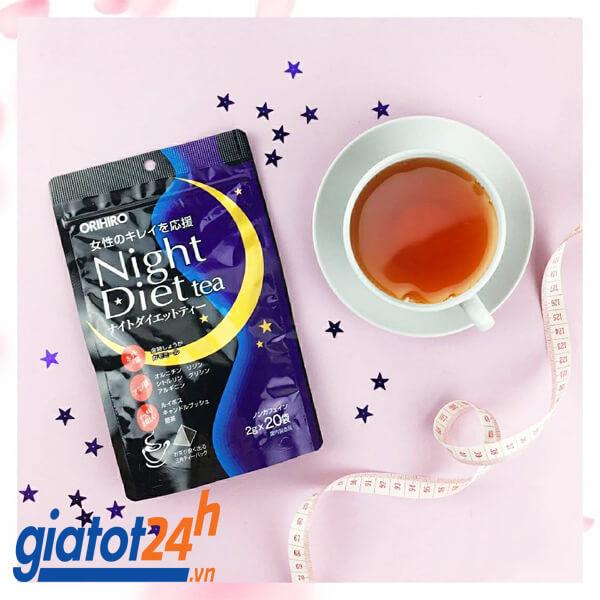 trà giảm cân orihiro night diet tea có tốt không