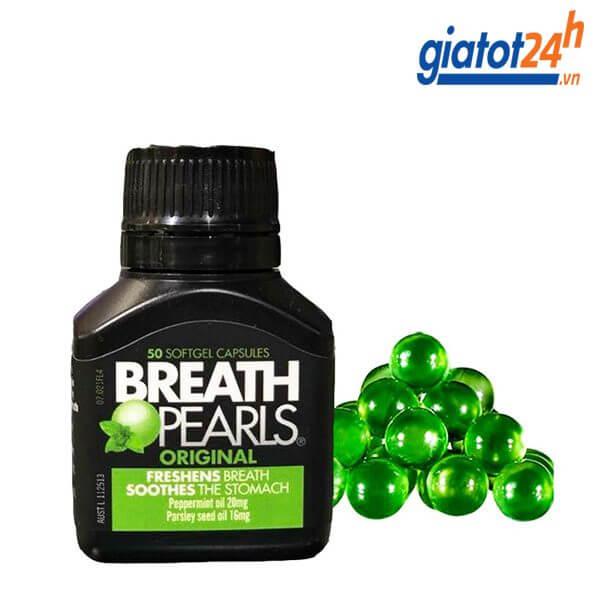 viên ngậm thơm miệng breath pearls có tốt không