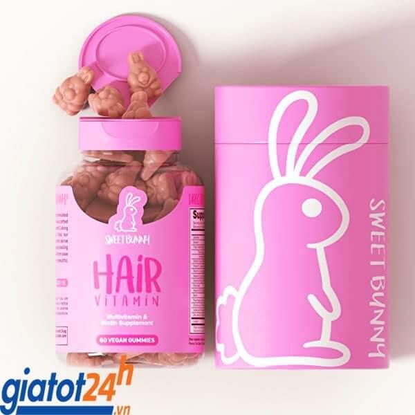kẹo gấu mọc tóc sweet bunny hair vitamin có tốt không