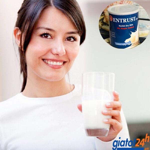 sữa bột không đường entrust milk có tốt không