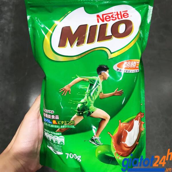 sữa bột nestle milo dạng túi 700g có tốt không