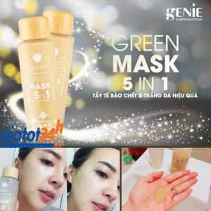 tẩy tế bào chết genie green mask 5in1 có tốt không