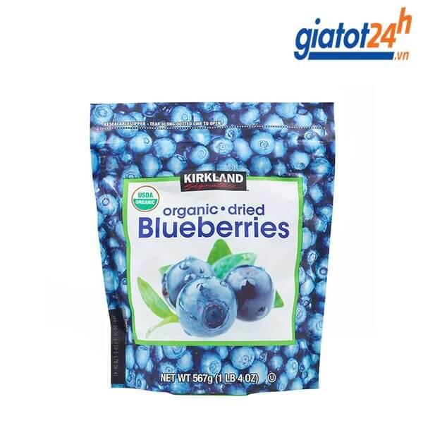 Việt Quất Sấy Khô Kirkland Signature Organic Dried Blueberries 567gr Mỹ