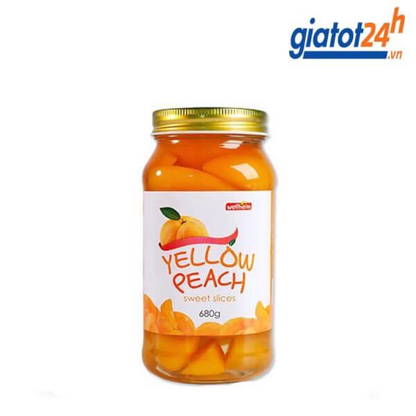 Đào Vàng Ngâm Wellheim Yellow Peach Sweet Slices