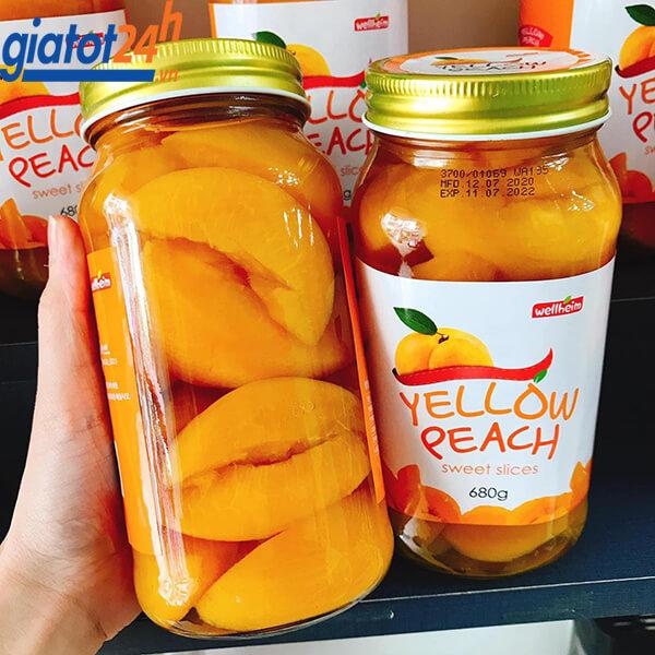 Đào Vàng Ngâm Wellheim Yellow Peach Sweet Slices bán ở đâu