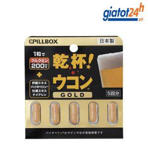 Thuốc Giải Rượu Pillbox Gold Nhật Bản