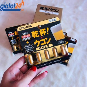 Thuốc Giải Rượu Pillbox Gold Nhật Bản giá bao nhiêu