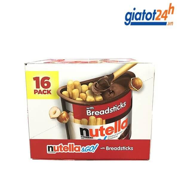 Bánh Que Chấm Nutella & Go Vị Bơ Hạt Phỉ