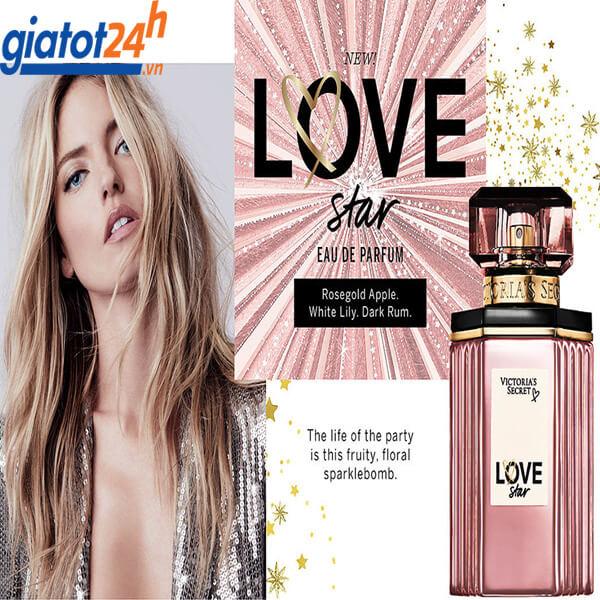 Nước Hoa Victoria's Secret Love Star Eau de Parfum cách dùng