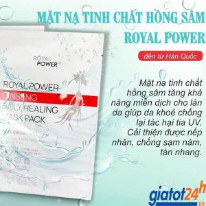 Mặt Nạ Nhân Sâm Royal Power công dụng
